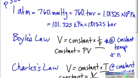 Thumbnail for entry Stephens AP Chemistry: (2-23-15) 10.4 Ideal Gas Law calculations and conversions