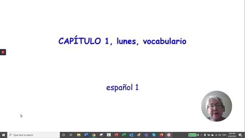 Thumbnail for entry CP 1  LUNES EL VOCABULARIO