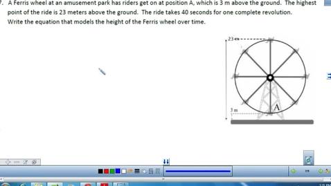 Thumbnail for entry Ferris Wheel Word problems