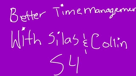 Thumbnail for entry PSA: 6th Grade Transitions (Collin & Silas)