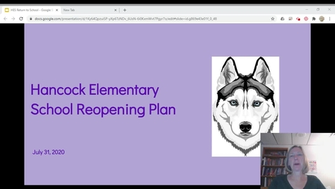 Thumbnail for entry HES Fall 2020 Reopening Plan