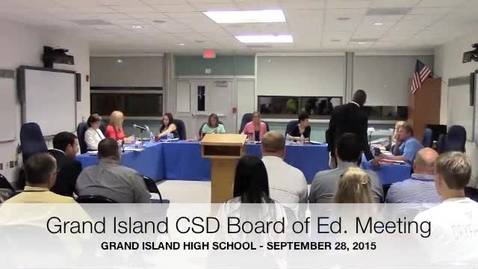Thumbnail for entry Board of Education Meeting 9-28-2015