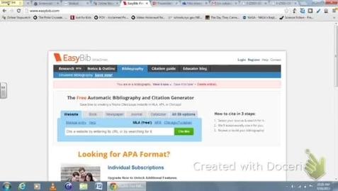 Thumbnail for entry Easybib tutorial