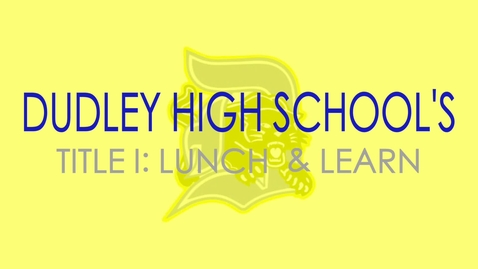 Thumbnail for entry Dudley Lunch & Learn