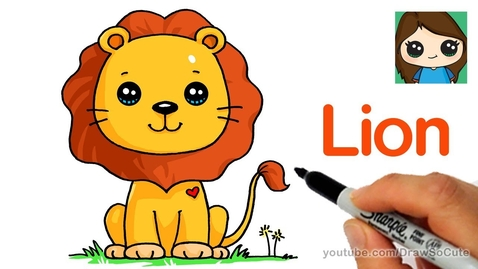 Thumbnail for entry How to Draw a Lion Cute and Easy