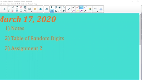 Thumbnail for entry 02 - VL Notes - Random Sampling.mp4