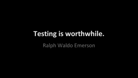 Thumbnail for entry Testing Quotes