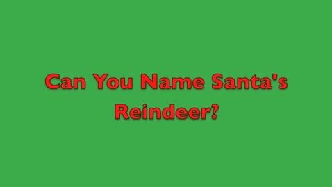 Thumbnail for entry Santa's Reindeer