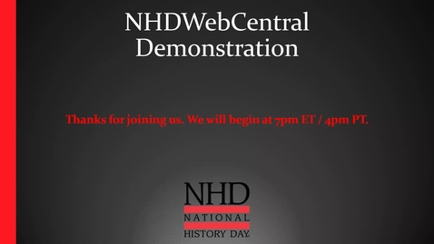Thumbnail for entry NHDWebCentral 101 Demo