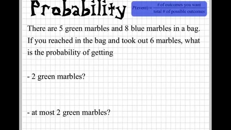 Thumbnail for entry How to find probability Part3