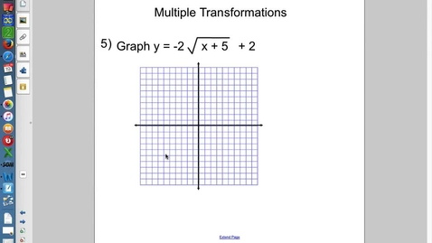 Thumbnail for entry 5.3 Graphing Radicals part 3 (Multiple Transformations)