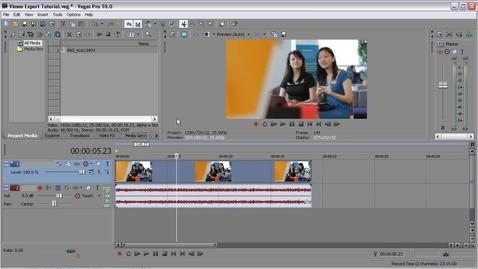 Thumbnail for entry Vegas export tutorial
