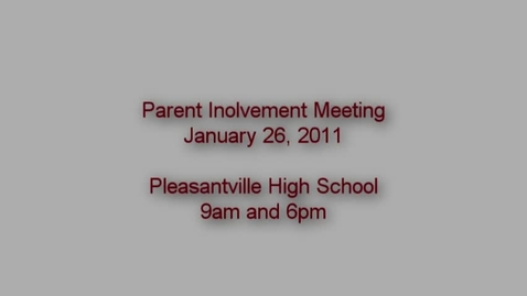 Thumbnail for entry Parent Involvement Meeting 2