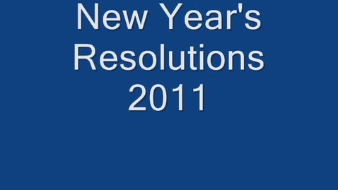 Thumbnail for entry Resolutions 2011