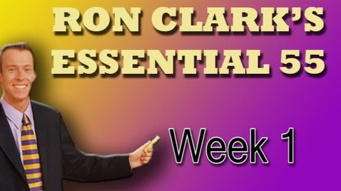 Thumbnail for entry Ron Clark's Essential 55 (clip 1)