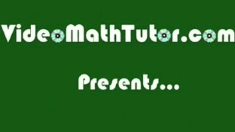 Thumbnail for entry Basic Math: Lesson 3 - Operations on Numbers -- Part 3