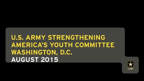 Thumbnail for entry Strengthening America's Youth Committee (SAY) Meeting 2015