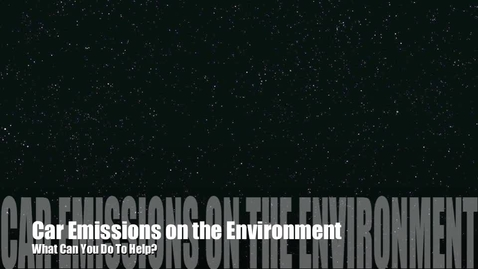 Thumbnail for entry Car Emissions on the Environment
