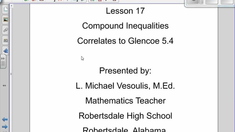 Thumbnail for entry Compound Inequalities