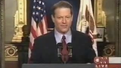 Thumbnail for entry Al Gore concedes presidential election of 2000