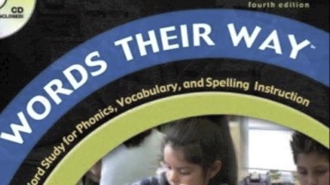Thumbnail for entry Words Their Way