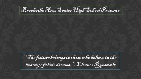 Thumbnail for entry Brookville Area High School Class of 2012