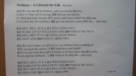 Thumbnail for entry Wellness - A Lifestyle for Life