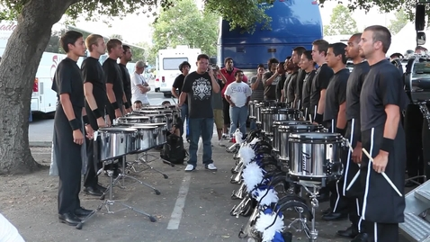 Thumbnail for entry DCI 2010 - Blue Devils Drums in the lot  @ Pasadena, CA 1080p - 7/4/2010