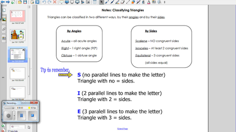 Thumbnail for entry Classifying Triangles