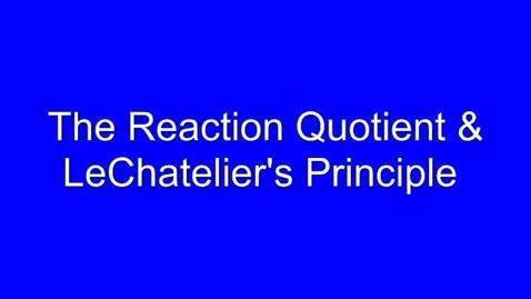 Thumbnail for entry LeChatelier's Principle