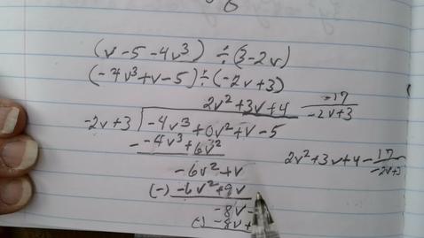 Thumbnail for entry Dividing Polynomials part 2