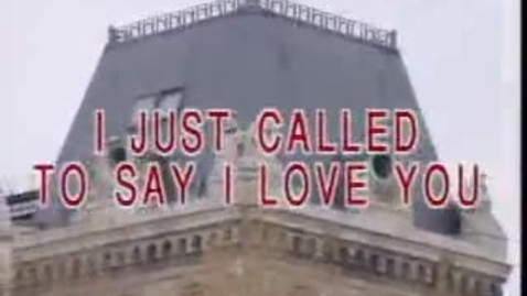 Thumbnail for entry I just called to say I love you - Karaoke
