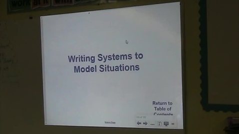Thumbnail for entry Alg Lesson 7-4 C Writing systems of Equations