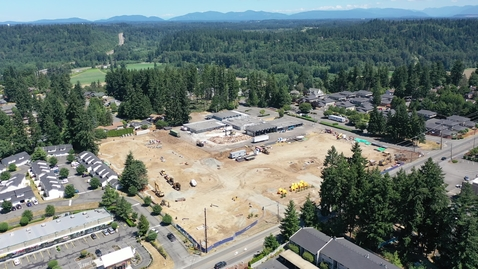 Thumbnail for entry Chinook Elementary Drone Footage Site Progress July 2021