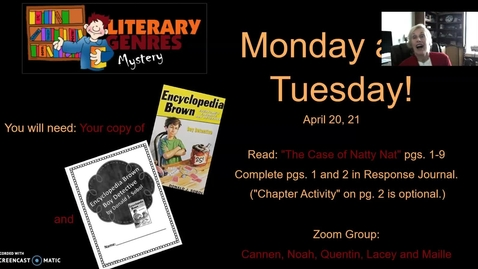 Thumbnail for entry Mystery Genre: Encyclopedia Brown, Week 1