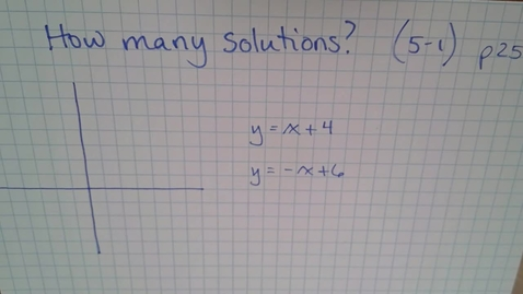 Thumbnail for entry Math-13 E05 5-1 (TSW 2) How many solutions?