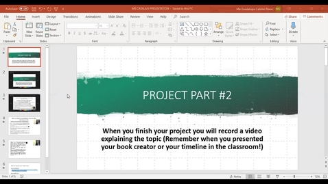 Thumbnail for entry How to record your presentation using PPT