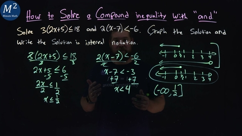 """Thumbnail for entry How to Solve a Compound Inequality with """"and"""" 