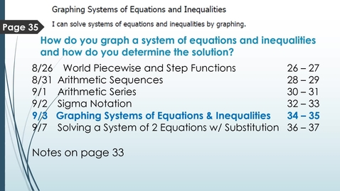 Thumbnail for entry VIDEO 1.5 Graphing Systems of Equations and Inequalities