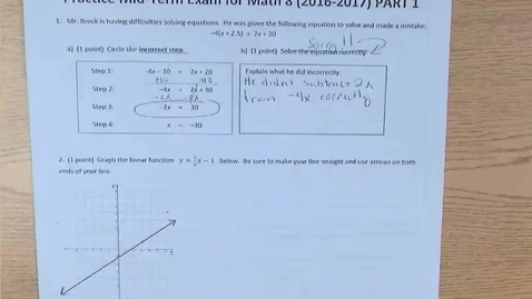 Thumbnail for entry Answers and explanations for first half of Math 8 Mid-Term