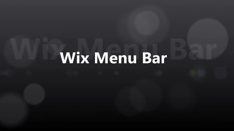 Thumbnail for entry Wix Menu Bar 2017