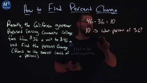 Thumbnail for entry How to Find Percent Change | Word Problem | Minute Math