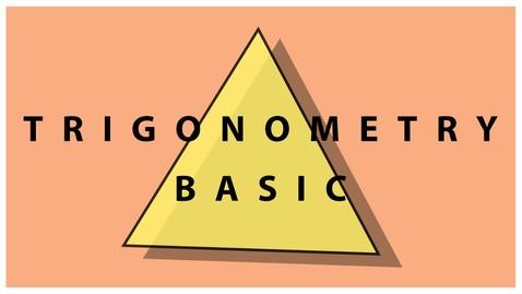 Thumbnail for entry Basic Trigonometry | Trigonometric Ratios | Math | LetsTute