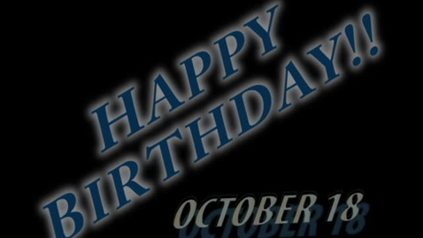 Thumbnail for entry Birthday tape Oct. 18