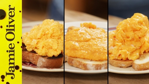 Thumbnail for entry How To Make Perfect Scrambled Eggs - 3 ways | Jamie Oliver
