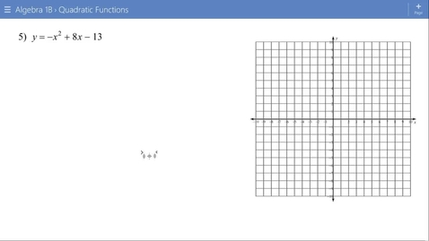 Thumbnail for entry Algebra 1B Lesson 15 #5