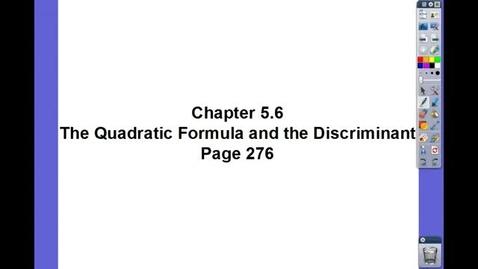 Thumbnail for entry Algebra II Ch 5.6