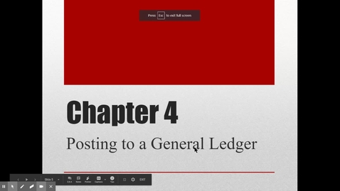 Thumbnail for entry Accounting Chapter 4 General Ledger Lecture