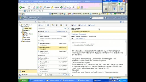 Thumbnail for entry Webmail- Saving an Email