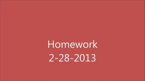 Thumbnail for entry Homework 2-28  MLA